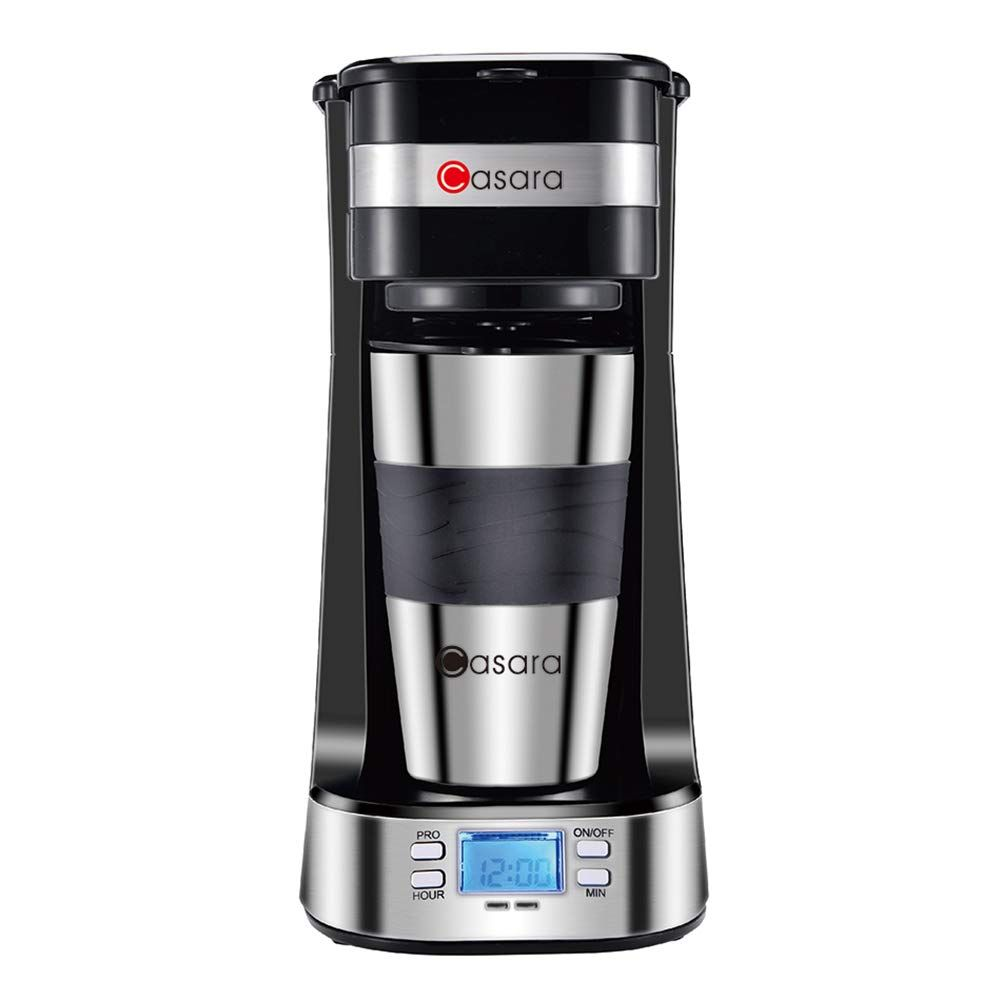 63 Off Single Cup Coffee Maker With 14 Oz Double Wall Stainless Steel Travel Mug Single Cup Coffee Maker Single Serve Coffee Makers Coffee Maker