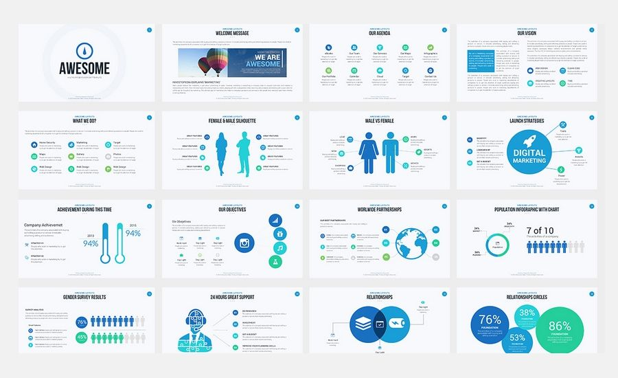 Pin by andrea baumgartner on presentation design inspiration powerpoint design templates cool presentation template 25 awesome powerpoint templates with toneelgroepblik Images