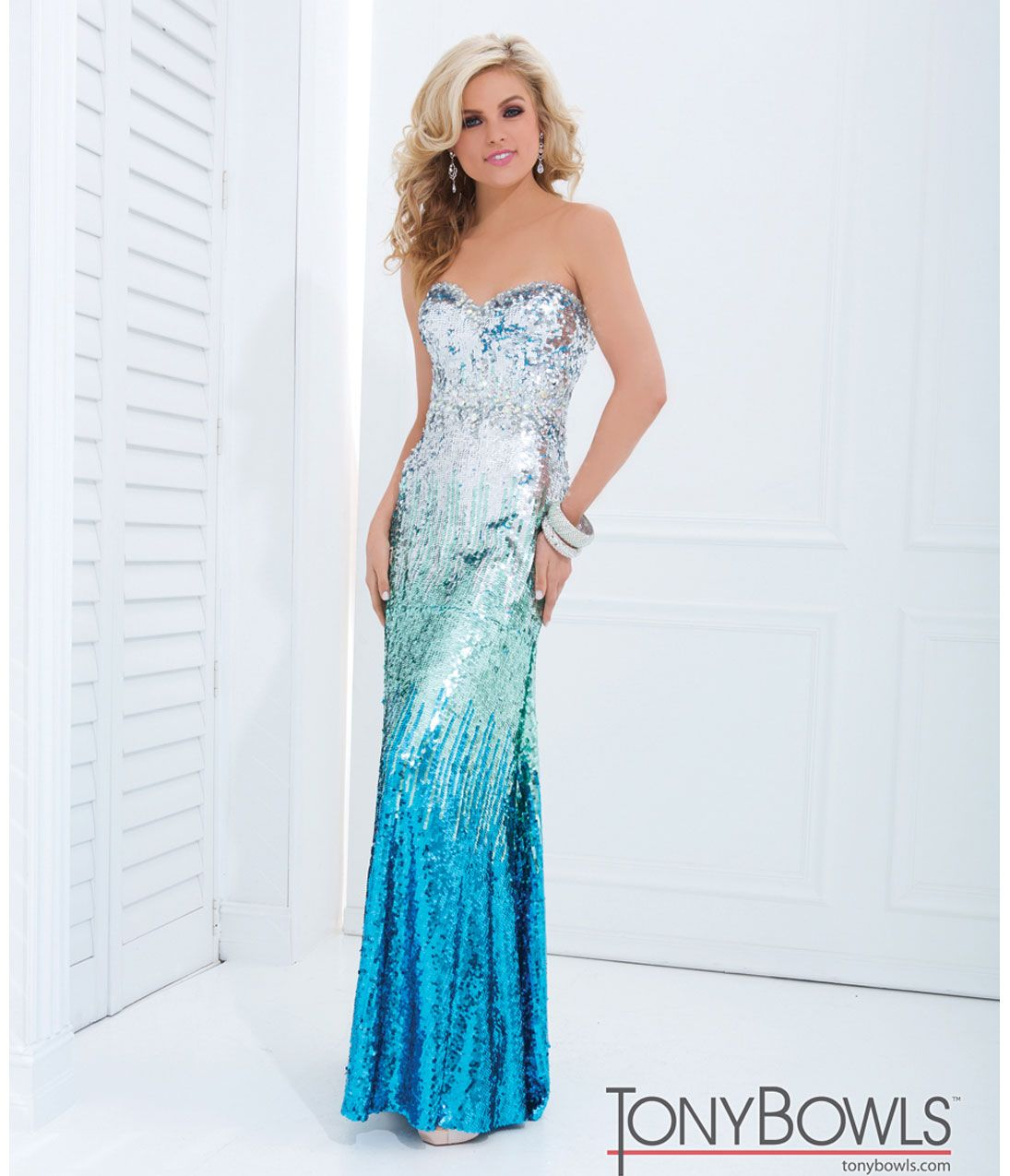 Silver Color Prom Dresses