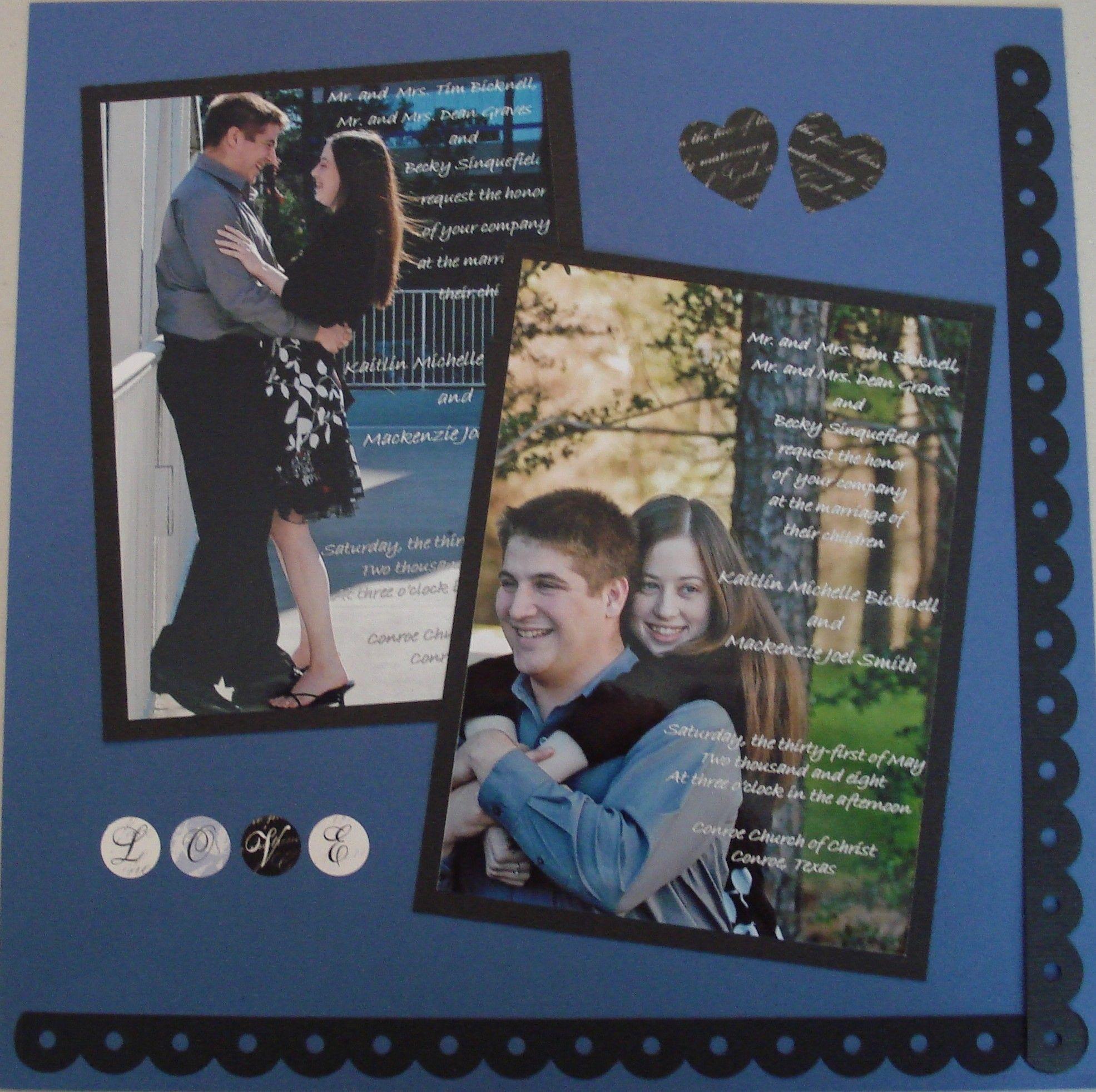 How to scrapbook wedding invitations - Wedding Invitations Scrapbook Com