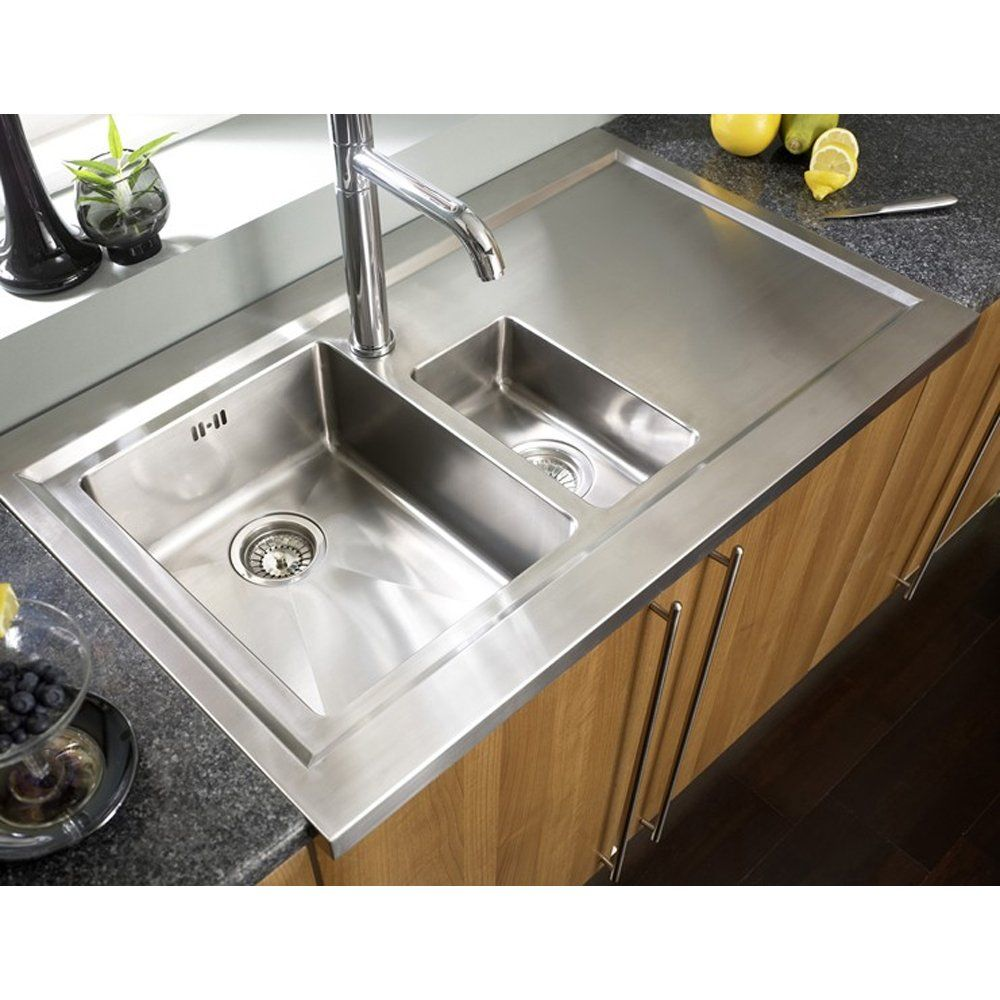 Astracast Bistro 1.5 Bowl Brushed Stainless Steel Kitchen Sink ...