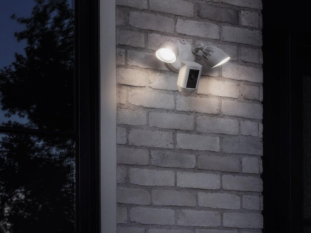 5fa837d28fa3 Looks like a floodlight, but it's actually a security camera. Find out how  to protect your home in style.