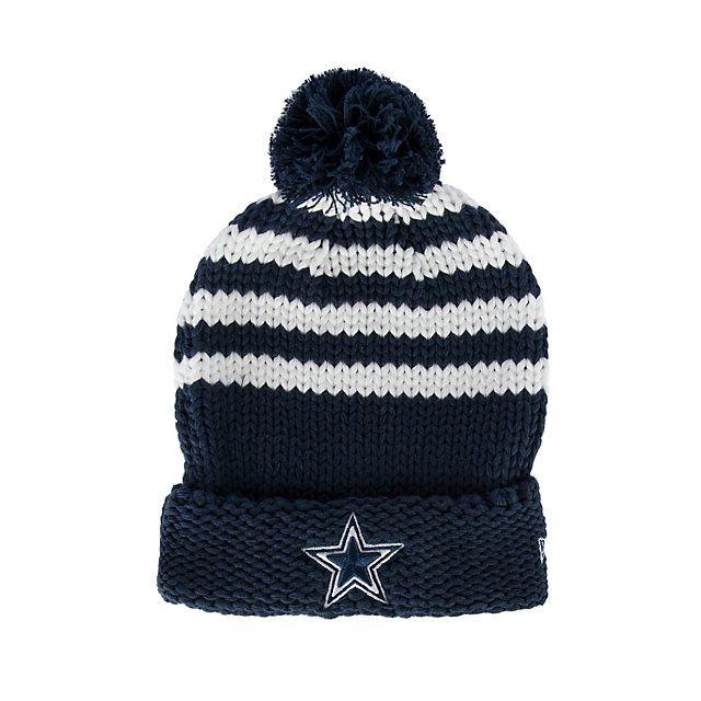 Dallas Cowboys New Era Women s Chunky Stripe Knit Hat  fd9dc044b