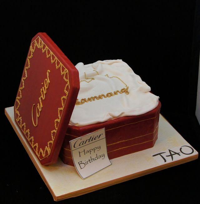 3d Cartier Gift Box Cake 3d Cakes Pinterest Boxed Cake 3d