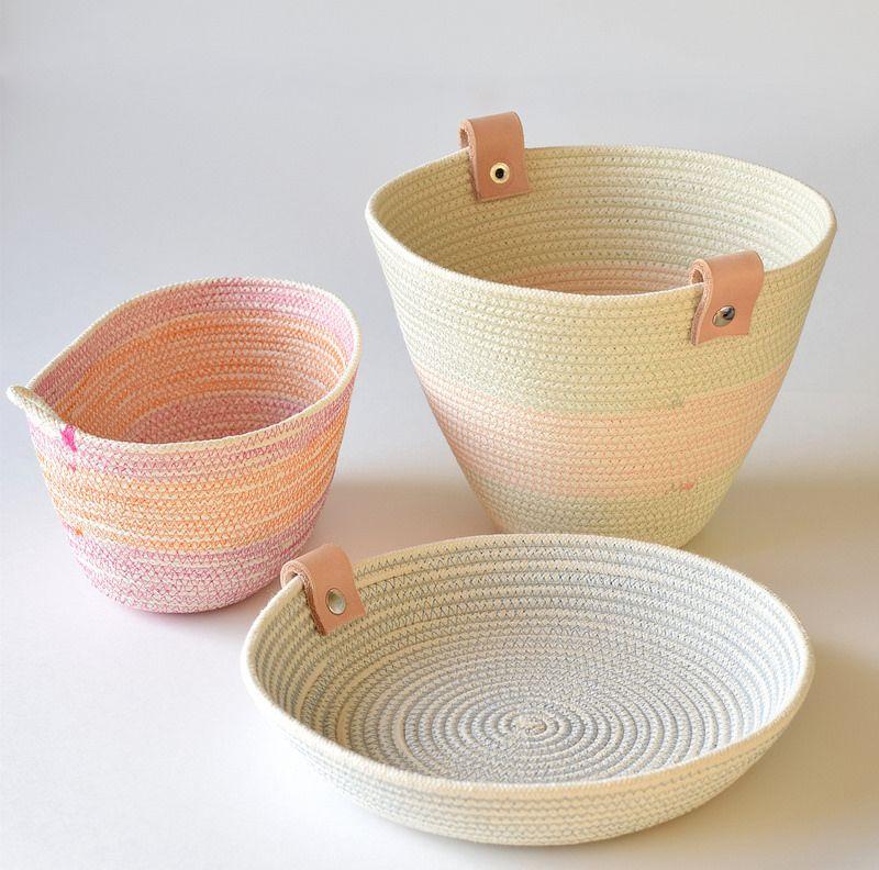 DIY rope basket                                                                                                                                                                                 More
