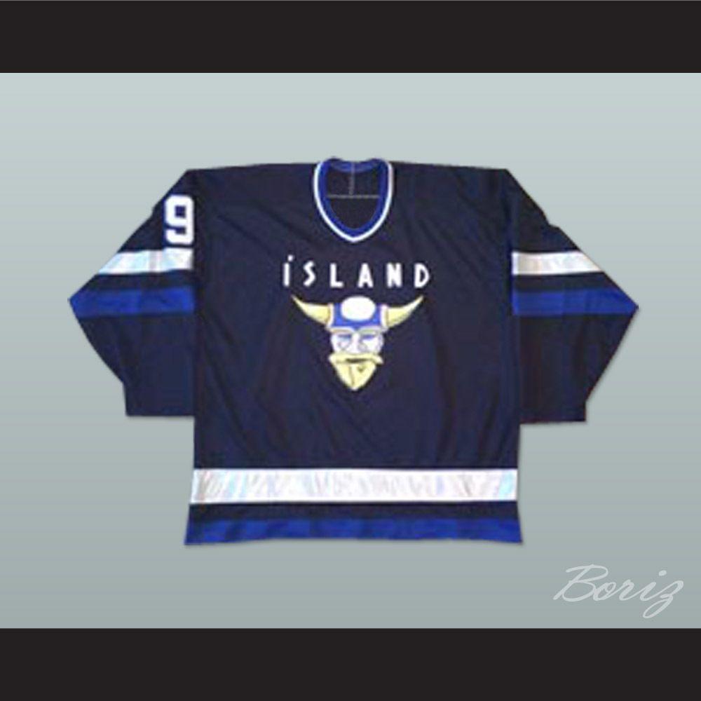 Gunnar Stahl D2 Iceland Jersey Long Sleeve Tshirt Men Hockey Jersey Jersey