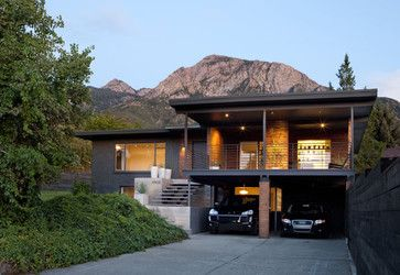 Mid Century Two Story Exterior Design Ideas Pictures Remodel And