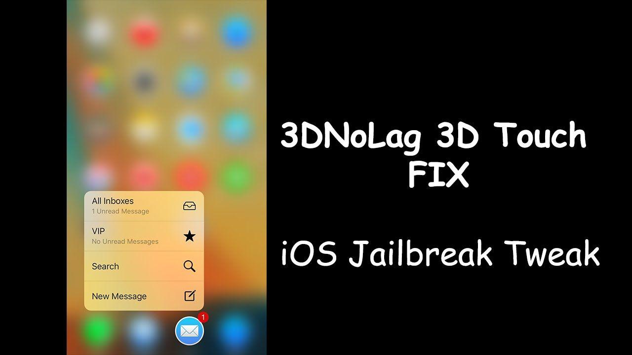 3DNoLag - Fix 3D Touch Lag