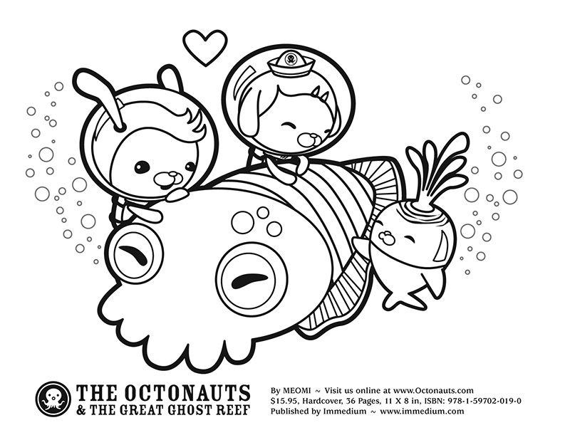 Octonauts Cuttlefish Coloring Pages