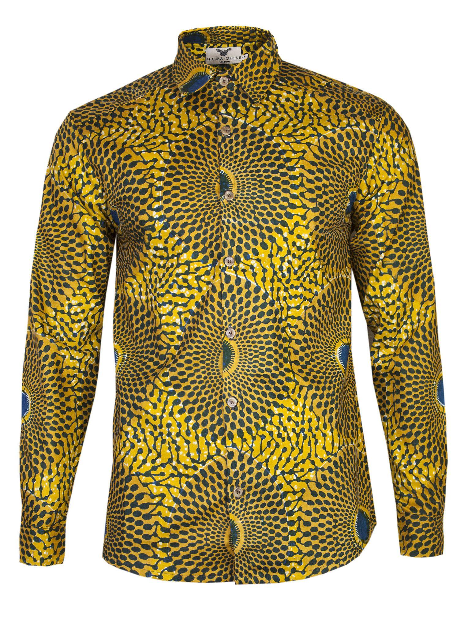 Long sleeve African print shirt Nsubra - OHEMA OHENE AFRICAN INSPIRED  FASHION - 1 bac9a456b