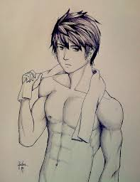 How To Draw Anime Abs : anime, Anime, Sketch, Kumpulan, Pengetahuan, Penting, Shirtless, Boys,, Anime,, Lineart