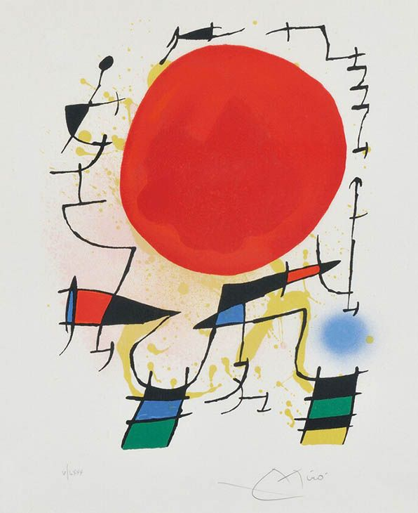 Joan Miro | Lithograph 1 - Plate 3 (a.k.a. Soleil Rouge) | GalleryBAM.com http://www.printed-editions.com/artwork/joan-miro-lithograph-1---plate-3-aka-soleil-rouge-27663