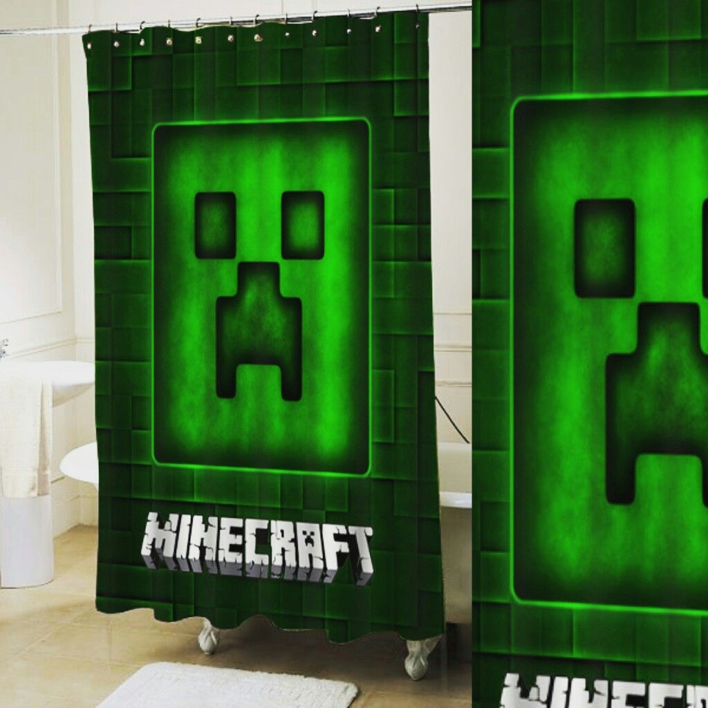 Minecraft Shower Curtain Customized Design For Home Decor