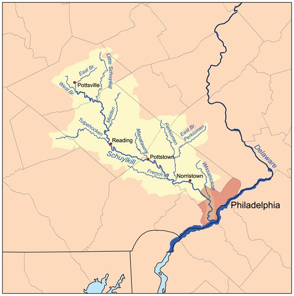 Schuylkillmap - Schuylkill River - Wikipedia, the free encyclopedia