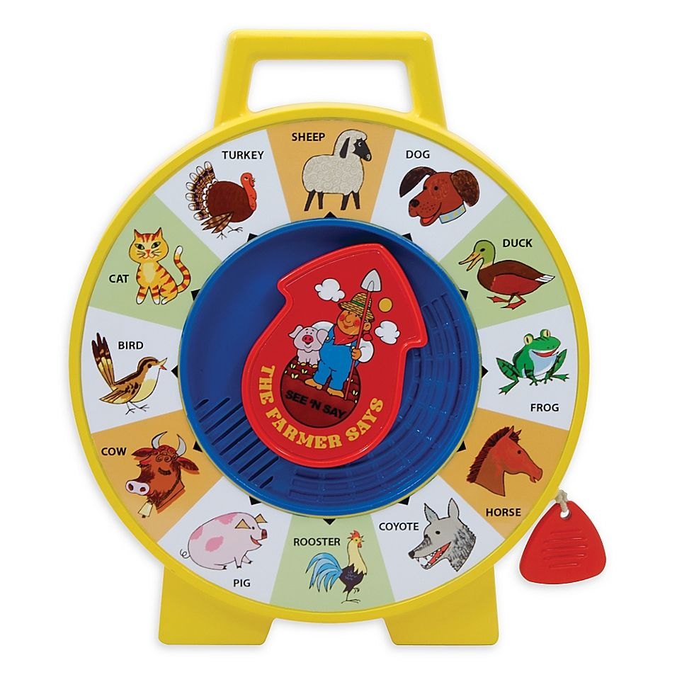 Fisher-Price Classics See N' Say Farmer Says - The See n' Say The Farmer Says toy teaches your child about all the different animals that live on the farm. Simply point the arrow to an animal and pull the cord to hear what sound they make. This toy offers hours of educational fun for your little one.