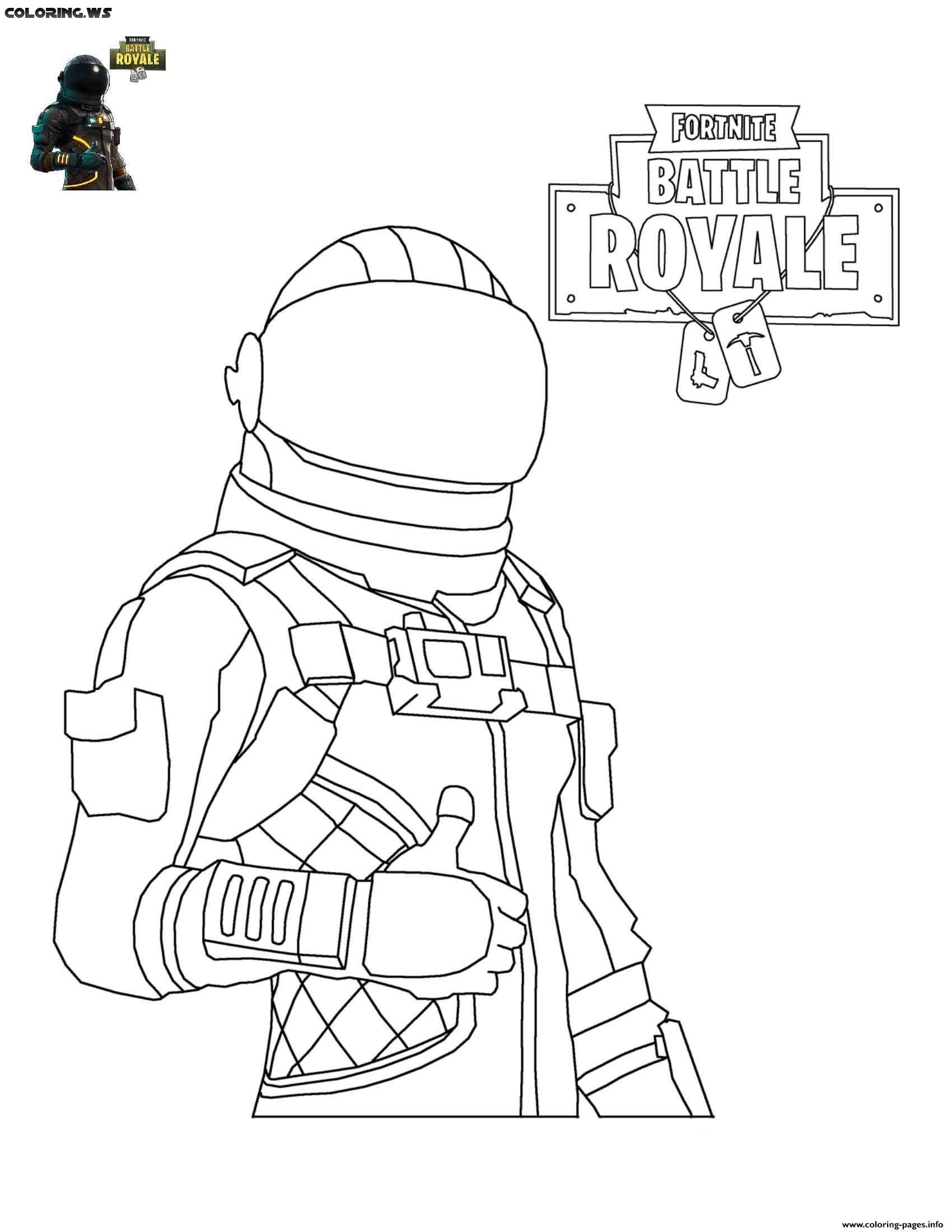 Fortnite Dark Voyager Coloring Pages Darkvoyager