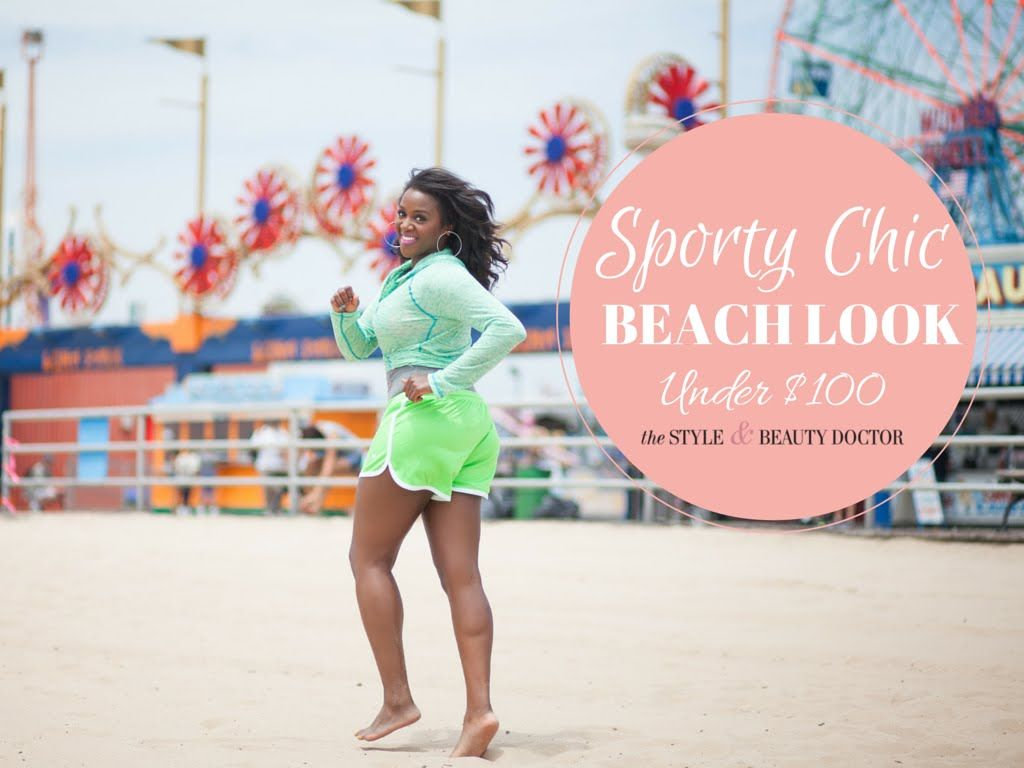 Sporty Chic Beach Outfit Under $100