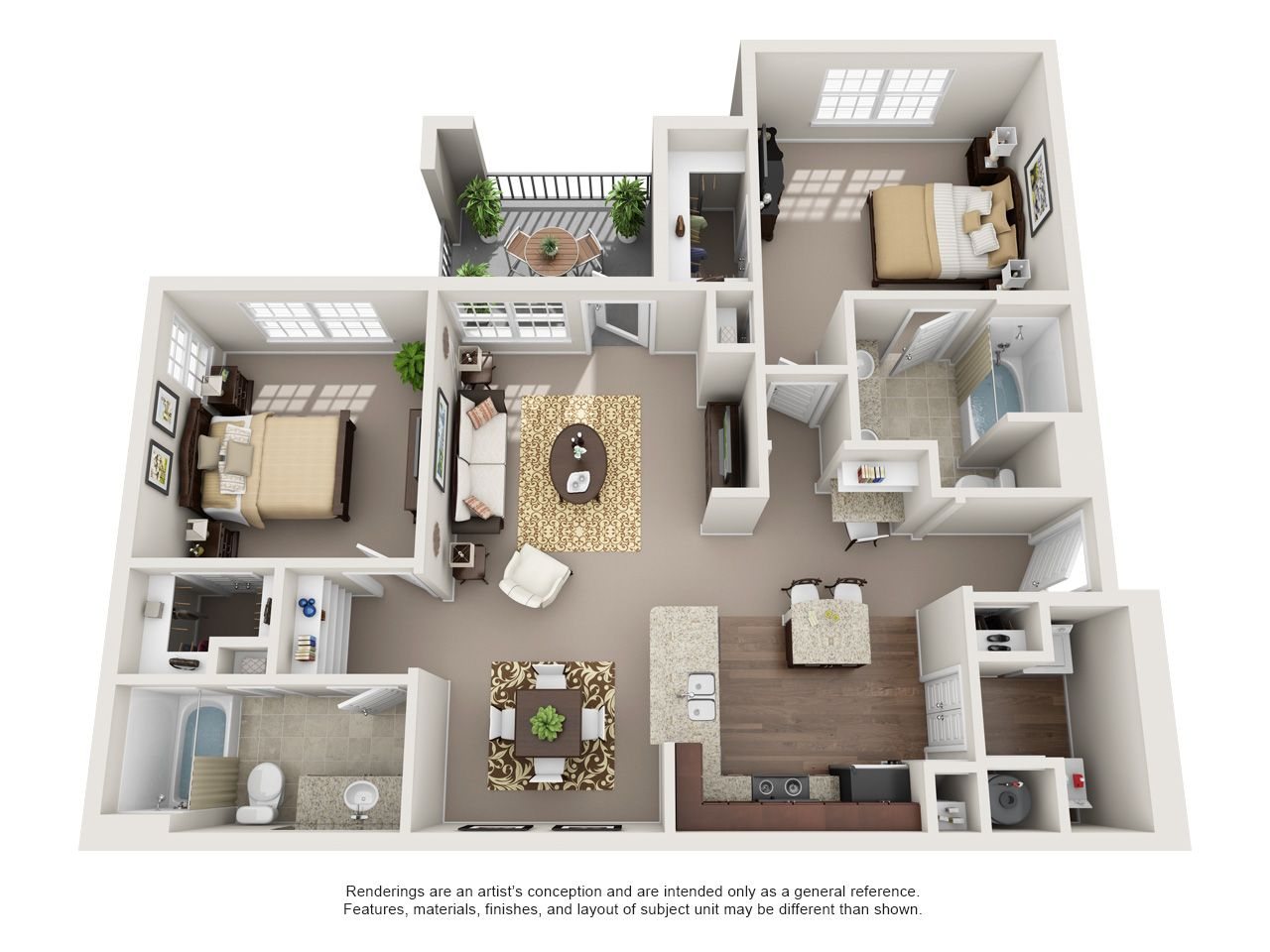 One Two And Three Bedroom Apartments In Oklahoma City Ok Apartment Layout Apartment Floor Plans Apartment Floor Plan