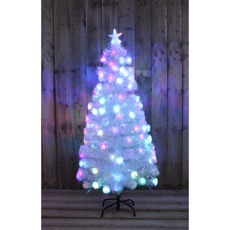 Led Fiber Optic Christmas Trees.Details About White Green Rainbow Led Fibre Optic Christmas