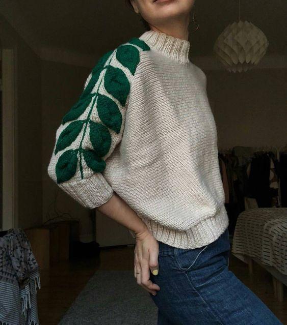 Photo of Inspiration stricken, Ärmelverzierungen in 3D-Stücken aufnähen oder #knitting…
