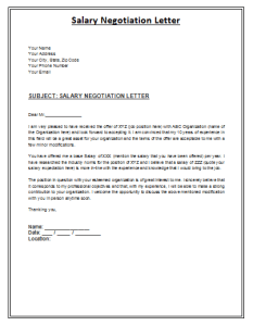 Salary Negotiation Letter To Employer.Salary Negoitation Letter Lettering Letter Sample Letter