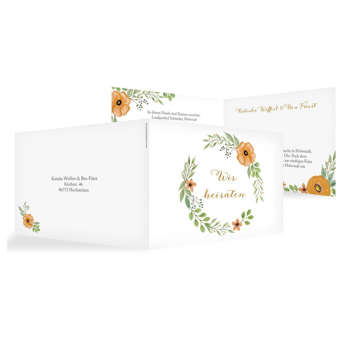 """Hochzeitseinladung """"Floral"""""""