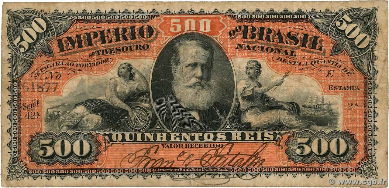 500 Reis Brazil 1880 Con Imagenes Billetes De Banco Billetes