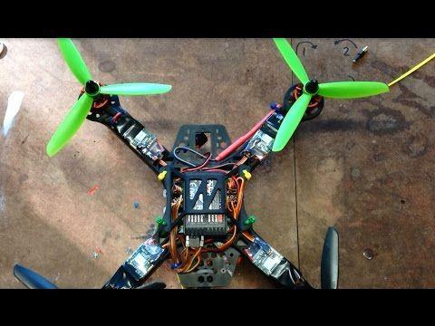 Hobbyking Diatone 250 Quadcopter KK2.1 PI settings for RC911 firmware - YouTube