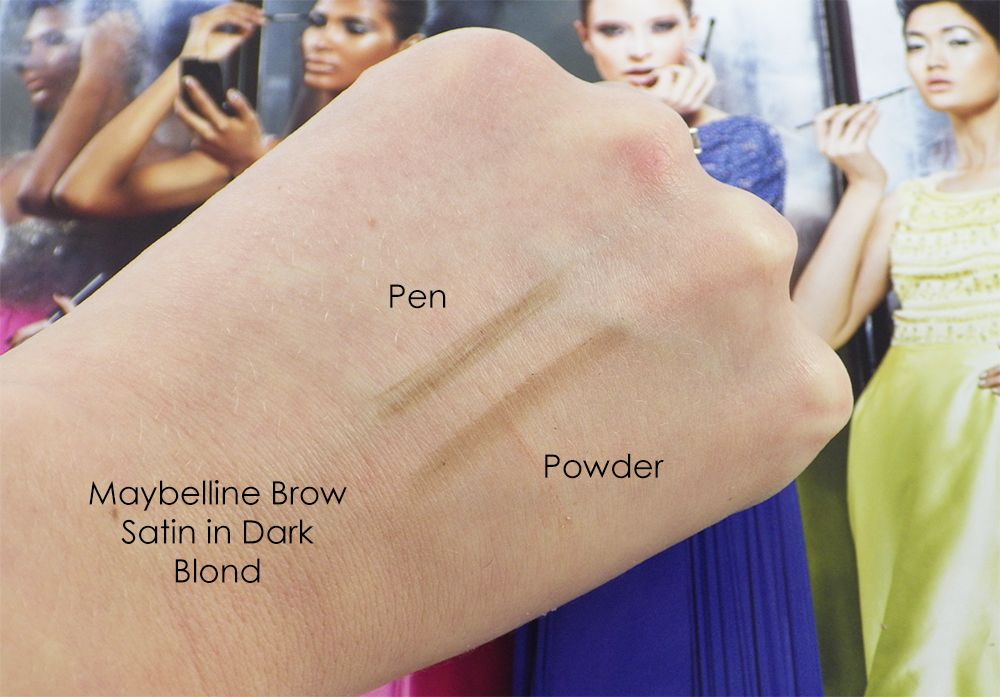 Review Maybelline Brow Satin In Dark Blond Make Up