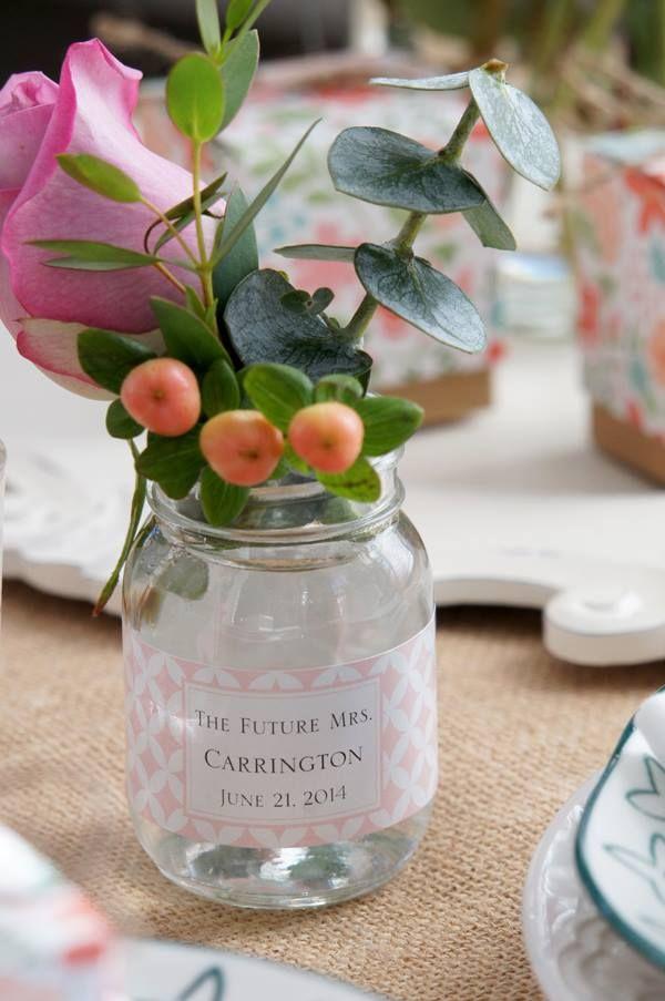 Turn Mini Glass Mason Jars Into Bud Vases Weddingfavors Rehearsal