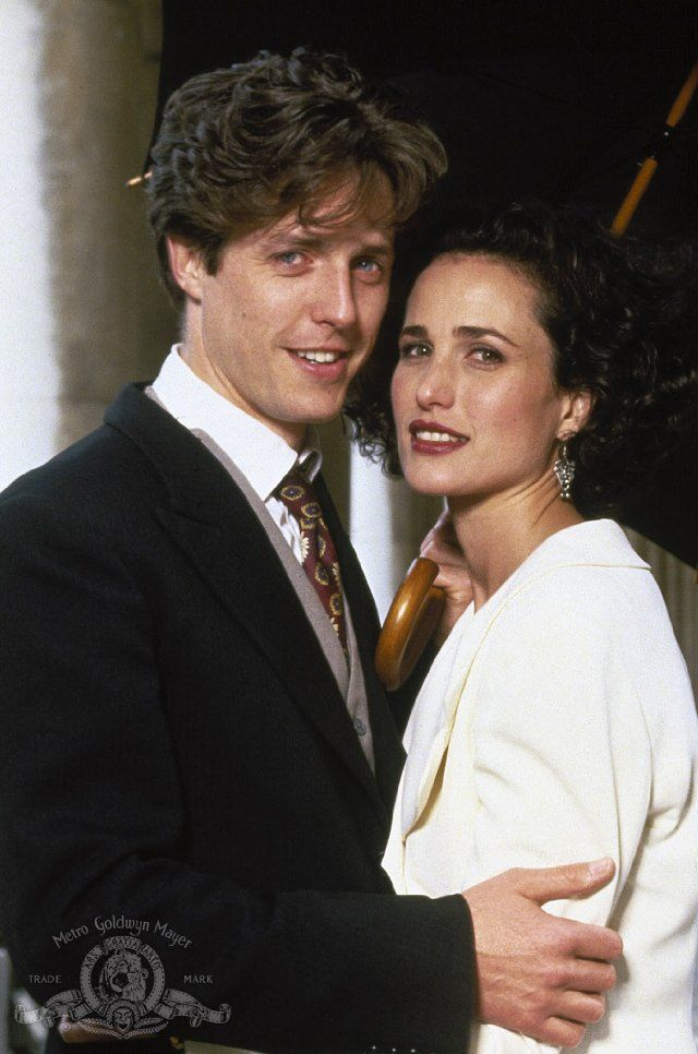 Hugh Grant Andie MacDowell In Four Weddings And A Funeral Friday Night At 10p