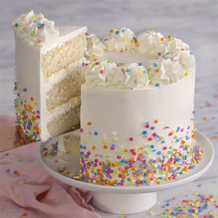 How To Make A Simple White Cake Recipe At Home Preppykitchen