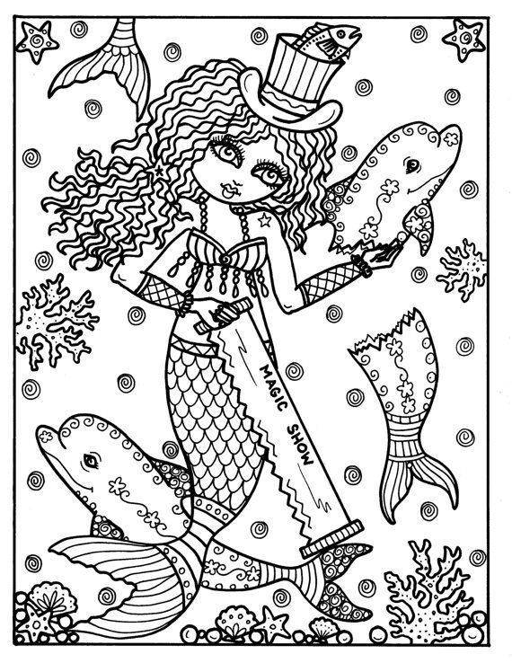 MERMAID CIRCUS COLORING BOOK Fun, Unique Mermaids who belong to the ...