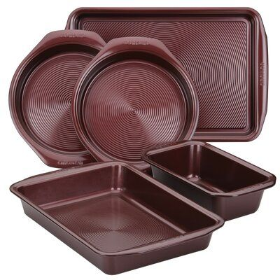 Circulon Circulon 5 Piece Non Stick Bakeware Set Color Merlot