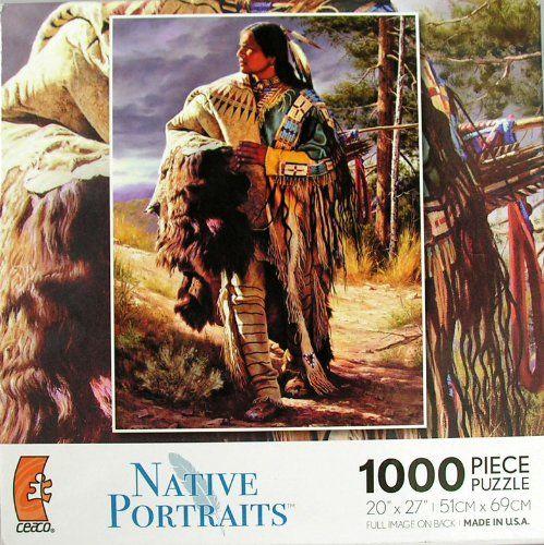 Native Portraits: Warrior - 1000 Piece Jigsaw Puzzle Ceaco