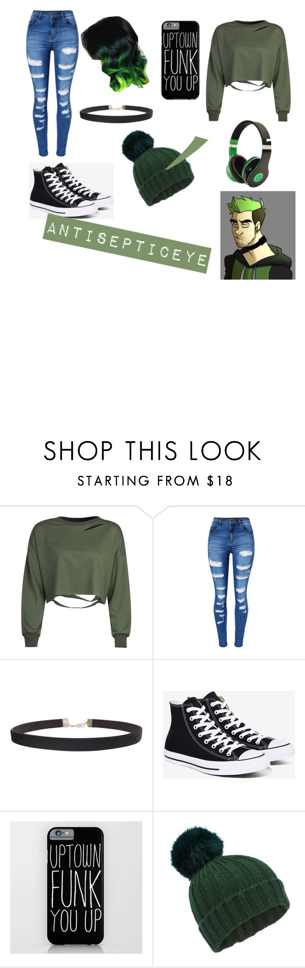 """""""antisepticeye set"""" by girlysonicraefan on Polyvore featuring WithChic, Humble Chic, Converse and Miss Selfridge"""