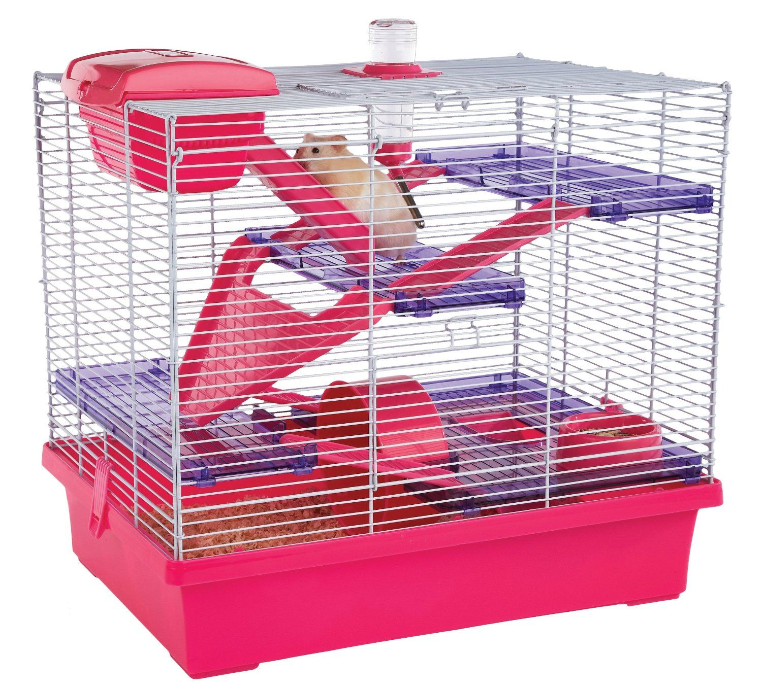 extra large hamster or mouse cage in pink and purple. Black Bedroom Furniture Sets. Home Design Ideas