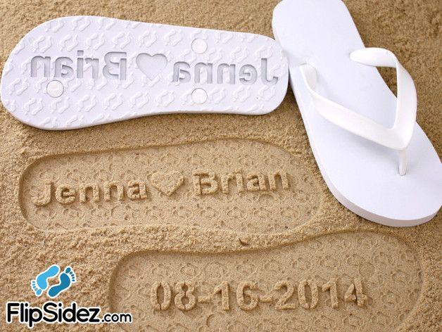 fa00fc866a745 Wedding Accessories – Custom Wedding Flip Flops Personalized Print – a  unique product by FlipSidez on DaWanda