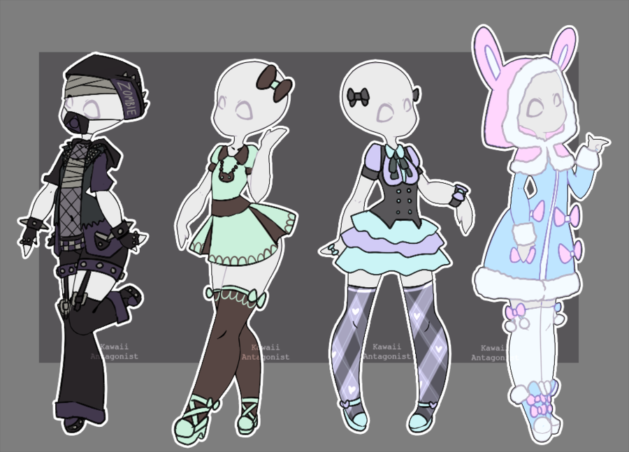 Roupas Gacha Life Edit Now United Gacha Outfits 17 By Kawaii Antagonist Deviantart Com On Deviantart Character Design Drawing Clothes Drawings