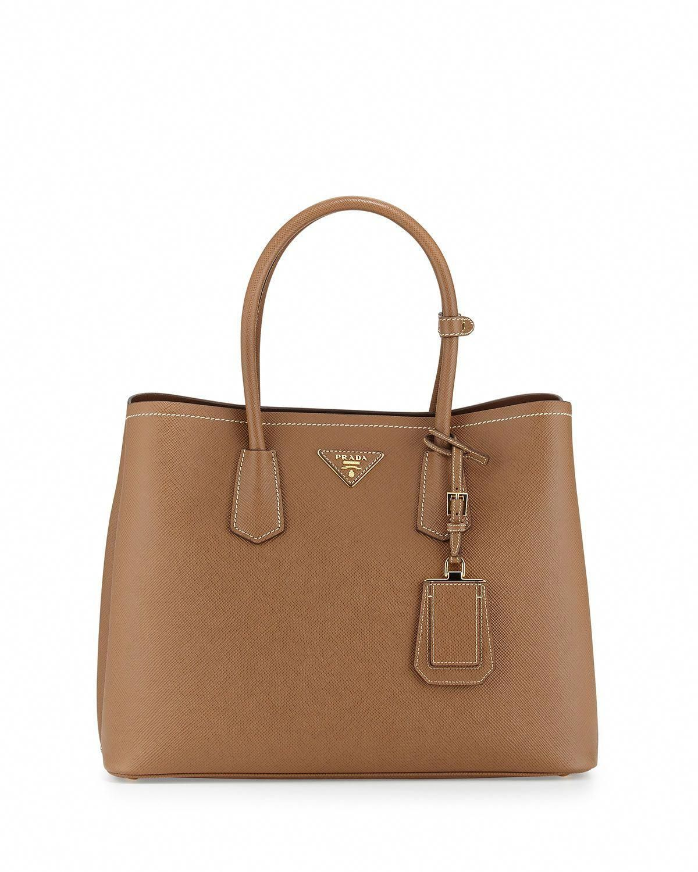b0e39d38572b Saffiano Cuir Double Medium Tote Bag