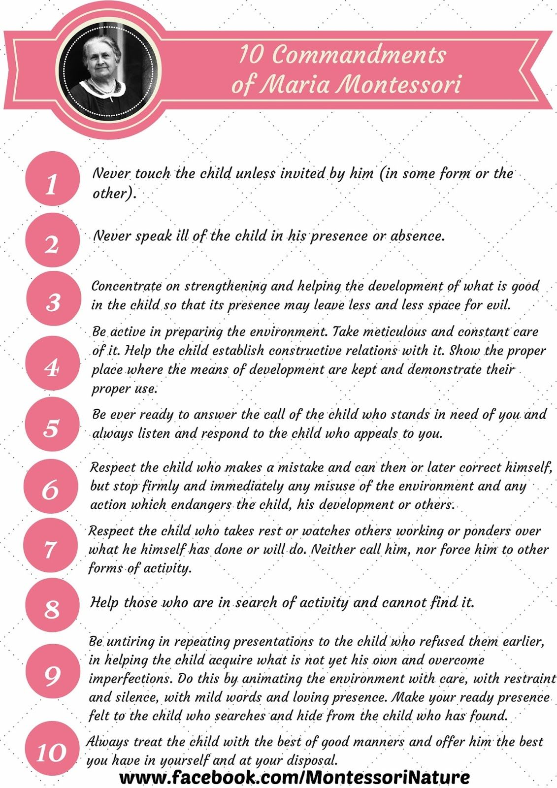 10 Commandments Of Maria Montessori A Decalogue By Dr M