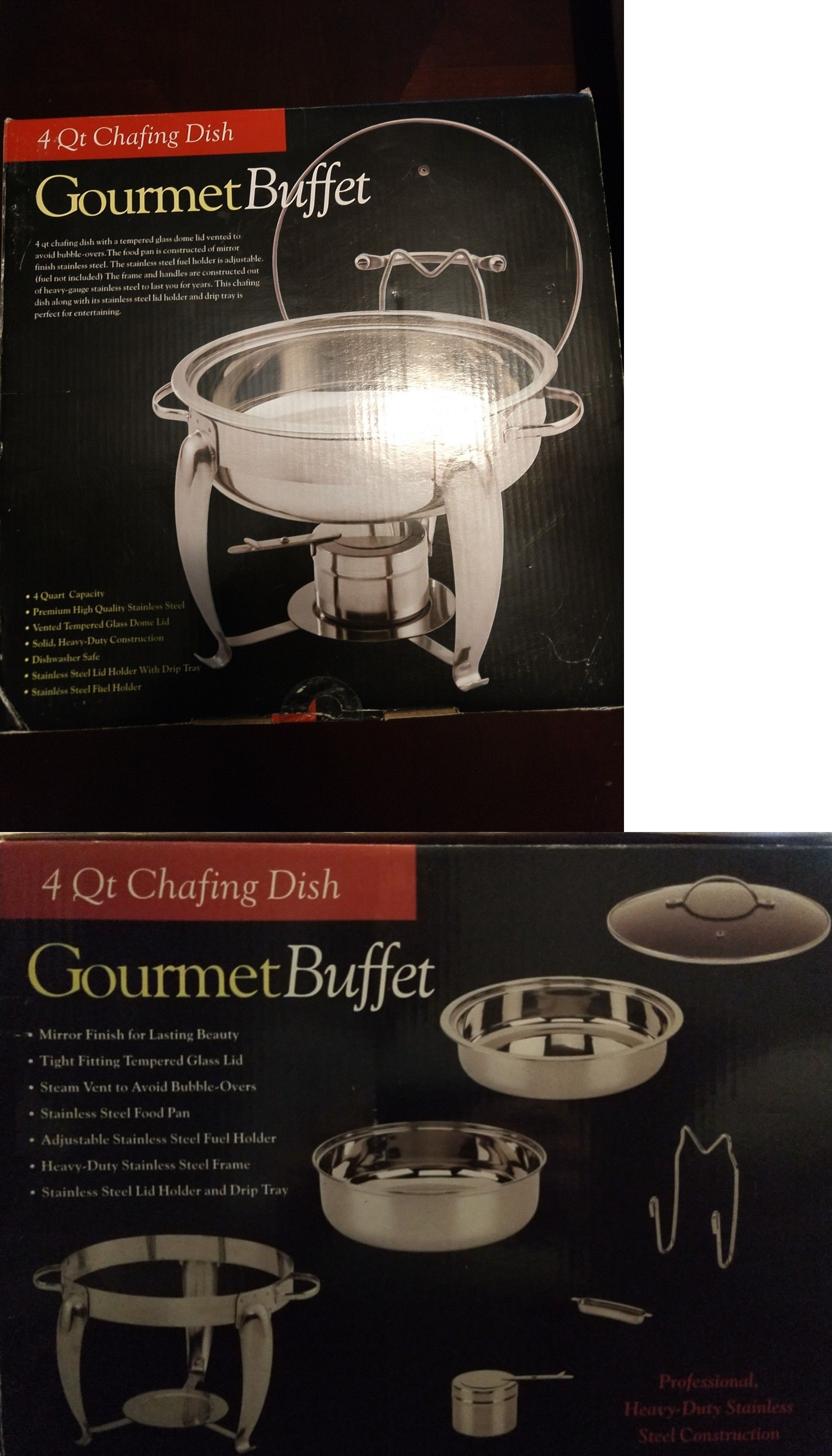 chafing dishes and warming trays 27552 4 qt chafing dish gourmet rh pinterest com