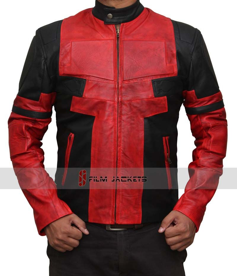 Deadpool Leather Jacket #blackfriday #blackfridaydeals