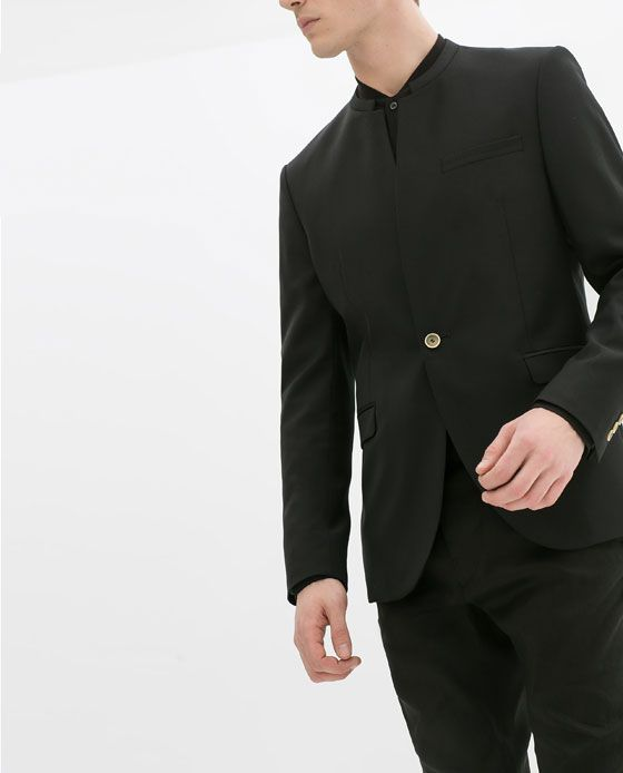 b2d3e756 ZARA - Blazer (no lapel) | AK | Zara blazer, Blazers for men und Blazer