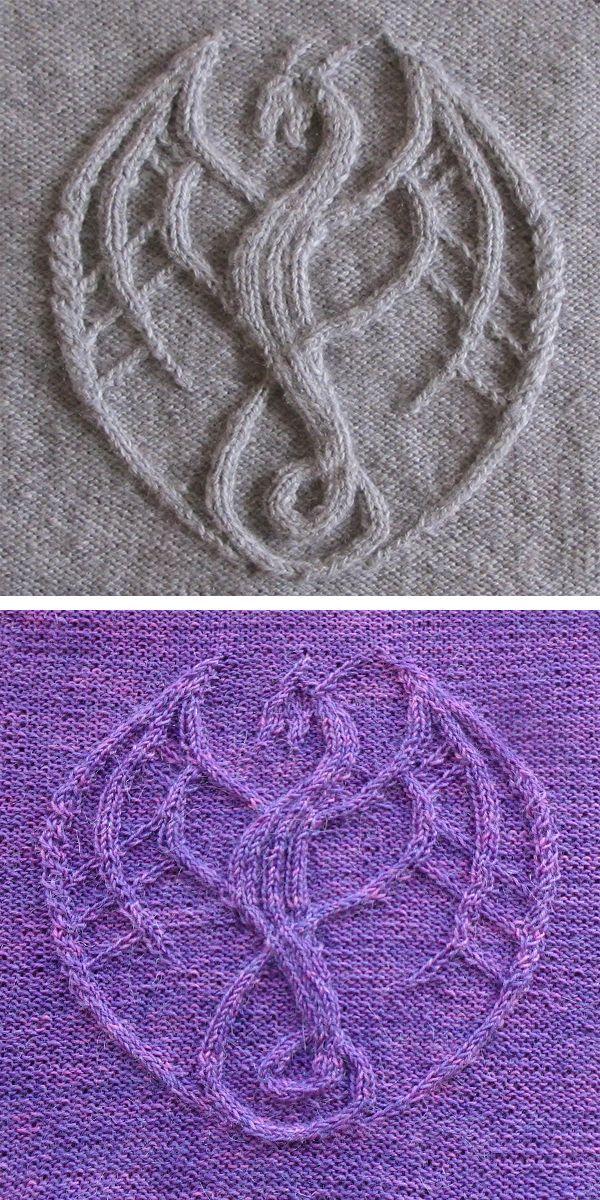 Dragon Knitting Patterns - In der Schleife stricken