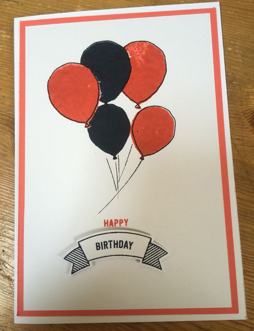 Stampin up birthday card using banner messages and punch plus