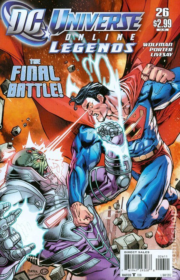 DC Universe Online Legends (2011 DC) 26 DC Comics Book cover art super heroes villians