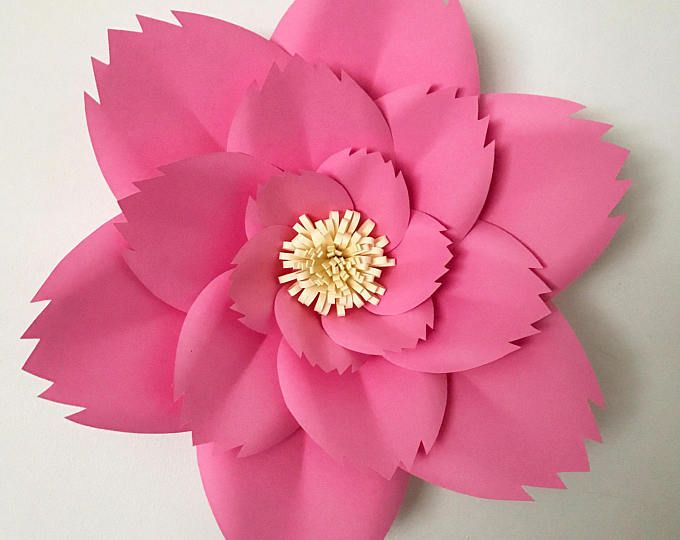 PDF Petal 44 Paper Flowers Template With Base Flat Center