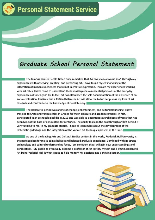 Graduate school personal statement writing is not only a formal