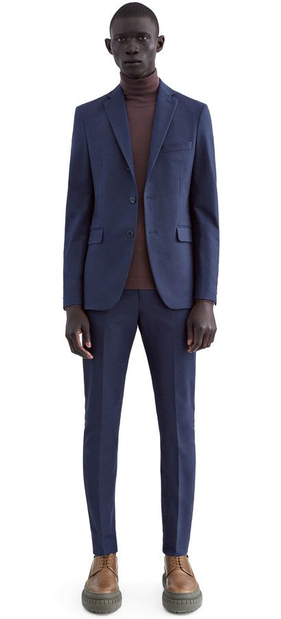 Acne Studios Drifter j ctn night blue Fitted suit jacket | Suits ...